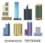 set of icons skyscrapers... | Shutterstock .eps vector #789783688