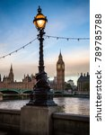 london cityscape with dolphin... | Shutterstock . vector #789785788