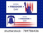 national freedom day... | Shutterstock .eps vector #789786436