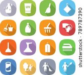flat vector icon set   cleanser ... | Shutterstock .eps vector #789787390