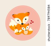 cute animals for mother's day.... | Shutterstock .eps vector #789794584