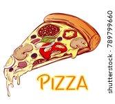 italian pizza slice   pizza... | Shutterstock .eps vector #789799660