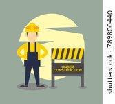 construction work illustration   Shutterstock .eps vector #789800440