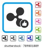 ripple thumb up icon. flat grey ...   Shutterstock .eps vector #789801889