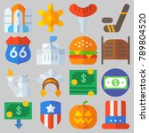 icon set about united states... | Shutterstock .eps vector #789804520