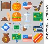 icon set about united states... | Shutterstock .eps vector #789804529