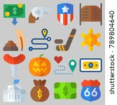 icon set about united states...   Shutterstock .eps vector #789804640