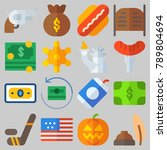 icon set about united states...   Shutterstock .eps vector #789804694
