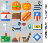 icon set about united states... | Shutterstock .eps vector #789804700
