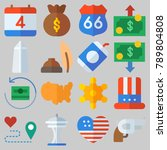 icon set about united states... | Shutterstock .eps vector #789804808