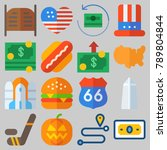icon set about united states...   Shutterstock .eps vector #789804844