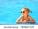 smiling cute little girl in... | Shutterstock . vector #789807199
