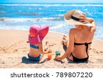 back view of little girl... | Shutterstock . vector #789807220