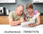 happy senior couple using...   Shutterstock . vector #789807478