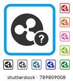 ripple coin unknown status icon.... | Shutterstock .eps vector #789809008