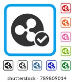ripple coin valid icon. flat... | Shutterstock .eps vector #789809014