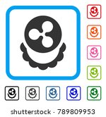 ripple coin reward icon. flat...