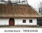 old traditional ukrainian house ... | Shutterstock . vector #789810448