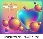 valentine's day colorful... | Shutterstock .eps vector #789815290