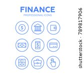 finance thin icons. finance... | Shutterstock . vector #789817906
