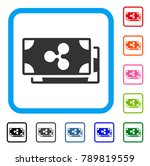 ripple banknotes icon. flat... | Shutterstock .eps vector #789819559