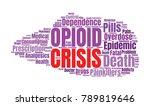 opioid crisis word cloud... | Shutterstock .eps vector #789819646
