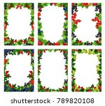 berry posters templates for... | Shutterstock .eps vector #789820108