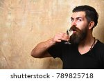man with beard and mustache... | Shutterstock . vector #789825718
