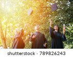 graduation celebration outdoors.... | Shutterstock . vector #789826243