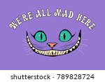 smile of a cheshire cat for the ... | Shutterstock .eps vector #789828724