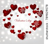 happy valentines day background ... | Shutterstock .eps vector #789829078