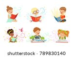 adorable little boys and girls... | Shutterstock .eps vector #789830140