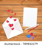 valentines card with cute... | Shutterstock . vector #789832279