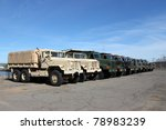 Row Of Military Vehicles