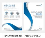 brochure template flyer design... | Shutterstock .eps vector #789834460
