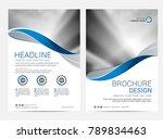 brochure template flyer design... | Shutterstock .eps vector #789834463