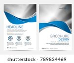 brochure template flyer design... | Shutterstock .eps vector #789834469