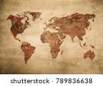 grunge map of the world | Shutterstock . vector #789836638