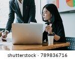 team work process. business...   Shutterstock . vector #789836716