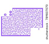 illustration with game maze... | Shutterstock .eps vector #789837070