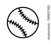 leisure   baseball    Shutterstock .eps vector #789837583
