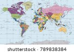 world map countries. vector... | Shutterstock .eps vector #789838384
