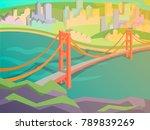golden gate bridge vector...   Shutterstock .eps vector #789839269