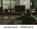 back view of sound producer... | Shutterstock . vector #789841873