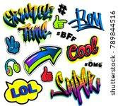 set of comics badges elements ... | Shutterstock .eps vector #789844516