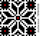 romanian embroidery element in... | Shutterstock .eps vector #789845038