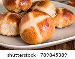 pull apart buns. homemade easy...   Shutterstock . vector #789845389