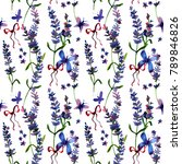 beautiful hand drawn  lavender... | Shutterstock . vector #789846826
