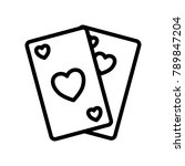 leisure   playing cards  | Shutterstock .eps vector #789847204