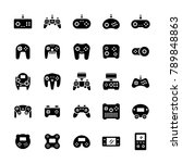 gamepads icon set in flat style.... | Shutterstock .eps vector #789848863
